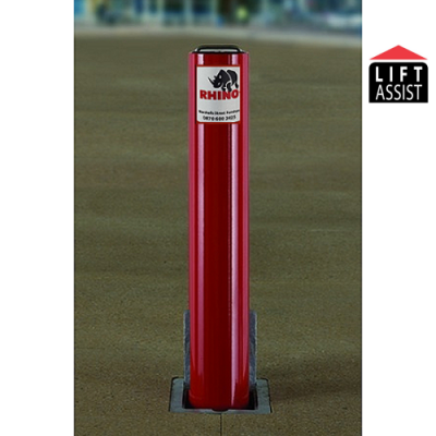 <u><strong>Marshalls Rhino RT/R114/670/HD Lift Assist <font color=''#cc0605'' face=''Arial''> Anti-Ram</font> Round Telescopic Bollard</strong></u>