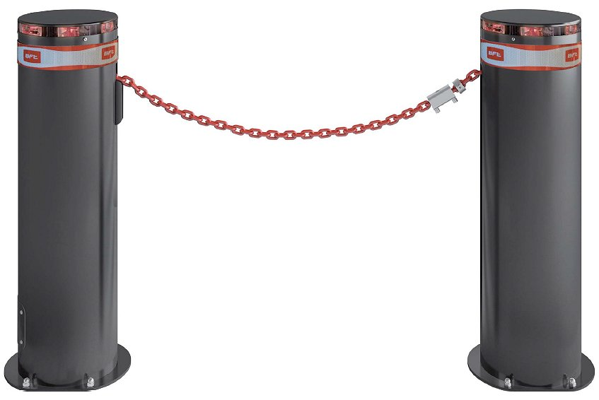 New Bollards Limited <u>BFT TWIN LIGHT Automatic Chain Barrier<br