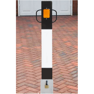 <u><strong>NBL/1100 Square Heavy Duty Lift Out Black & White Bollard</strong></u>