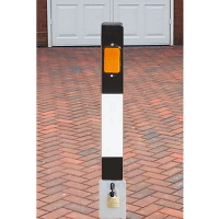 <u><strong>NBL/690 Square Heavy Duty Lift Out Black & White Bollard</strong></u>